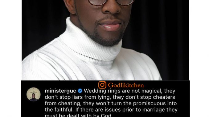 Wedding rings are not magical they don't stop cheaters from cheating-Minister GUC
