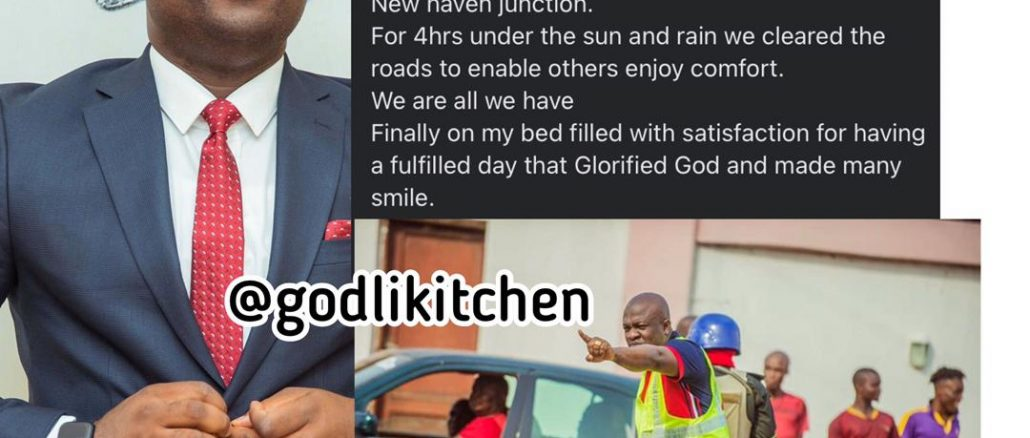 I had to do traffic control For 4hrs under the sun and rain -Marksman Chinedu Ijiomah