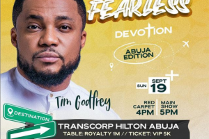 """Tim Godfrey Sets Date For Abuja Edition Of """"FEARLESS 2021"""" Live Concert 